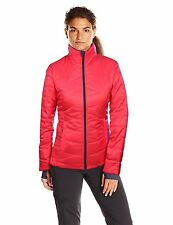 NEW Columbia Womens LARGE L LG MORNING LIGHT Omni-Heat Down Jacket RED