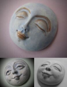 YOUR CHOICE - FG Silicone Mold of a Round Sun Moon Spirit Doll Face Cab