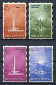 38171) Indonesia 1962 MNH National Monument 4v