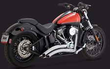Vance & Hines Chrome Big Radius 2 into 2 Exhaust For 1986-2016 Harley Softail