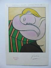 PICASSO SWISS PROOF PRINT (WOMAN WITH YELLOW HAIR 1936) NO: VI - SIGNED