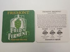 Beer Coaster ~ FREMONT Brewing Field to Ferment Fresh Hop Pale Ale ~ SEATTLE, WA