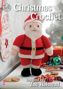 King Cole Christmas Crochet Book 2 Patterns Decorations Santa Rudolph Snowman