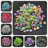 100pcs 8mm Acrylic Spacer Beads Heart Shape Rainbow Beads For Jewelry Making