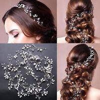 DIY Long Hairband Lady Hair Vine Head Chain Women Headpiece For Wedding Party