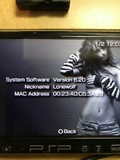 Sony Playstation PSP 3K Black PSP-3001 WiFi UMD Tested Portable Gaming Used