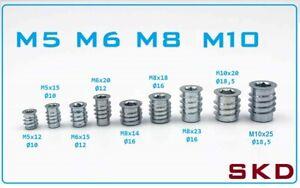 RAMPA SKD Einschraubmutter Einschraubmuffe M5 M6 M8 M10 verschiedene Längen