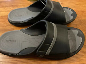 New Crocs Mens Slide Sandal Sz 6 Modi Sport Unisex Black/Graphite Womens 8