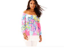 🌺 LILLY PULITZER XL Alia Top Off the Shoulder SwepT By The TideS 🏖⛵️😎