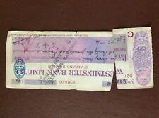 b1u ephemera cashed westminster bank ltd 42182 1929 torn