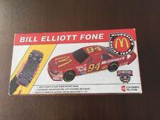 Rare 90s Columbia Tel-Com Nascar McDonalds Racing Car Fone Bill Elliot Wild Bill