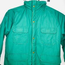 Vintage Woolrich Mountain Parka Men's Jacket Green Coat Size Large L Made In USA