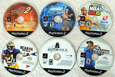 LOT OF 6 PLAYSTATION 2 VIDEO GAMES SMACK DOWN SHUT YOUR MOUTH HITMAN 2K SPORTS