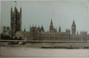 Old Postcard Of Houses Of Parliament London 1904