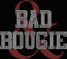 Bad & Bougie Black Pride Afro Queen Hotfix Iron On Rhinestone Shirt Transfer