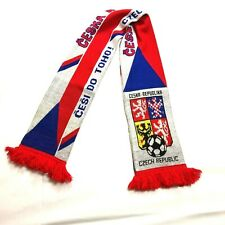 Czech Republic Fan Sports Scarf Soccer Football Ceska Republika Red White Blue