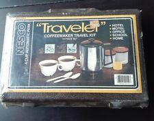 Vintage Nesco Traveler Coffeemaker Travel Kit 10 Piece Set