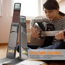 More details for 6-string small trainer chord guitar beginners w/ rotatable chords chart screen;