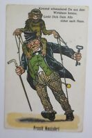 Neujahr, Männer, Betrunken, Affen,    1930 ♥ (69140)