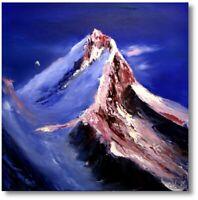 Unikat Berge Gemälde Kunst Abstrakt Wandbild Nr.1023