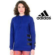 Adidas Womens H2 Unity Ink Blue Half Zip Hoodie Ladies Sweatshirt Free Post
