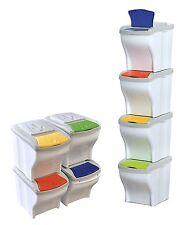 Ensemble De 4 Cubes Poubelle Modular 20 Litres Recyclage Des Déchets Hogar
