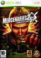 Mercenaries 2 (Xbox 360, 2008) PAL Disc Mint Brand New Case J1L