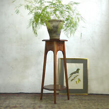 More details for antique arts & crafts aesthetic octagon plant stand pedestal liberty style