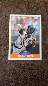 1989 Score Rick Sutcliffe #407 - Chicago Cubs - Autographed!
