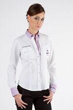 Camicia da donna del marchio Aeronautica Mil. new modello in colore Bianco/Rosa