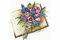 Cross stitch kit Smell of the Book pages M-085