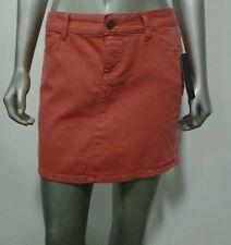 Tommy Hilfiger Women's Mini Jean Straight Skirt Paprika Pink 2