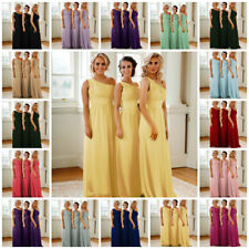 1 Shoulder Chiffon Bridesmaid Sequin Dress Wedding Ball Gown Prom Evening Party