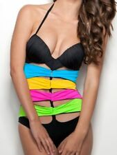 A. Che one pc swim suit halter tank Luna Ibiza 6 B/C S SMALL padded lined black