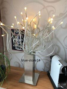 IKEA Stranne LED Tischlampe Medusa Lampe Edelstahlfuß biegsame Arme 2,5W Leuchte