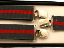 BRACES SUSPENDERS • 35mm Wide Thick Strap • Mens Ladies • GIFT • BOXED #4