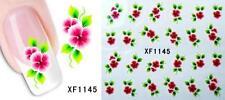 Pink flower 3D Nail Art Sticker Decal Decoration Manicure Water Transfer