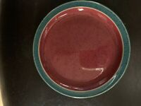 "Denby Harlequin Bread and Butter Plate 6 3/4"" Red W/ Green Trim Multiple Availbl"