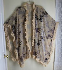 03dfe8a65 FINE Art-to-Wear Romantic Rich Velvet Devore Poncho Lagenlook OS M L XL 1X