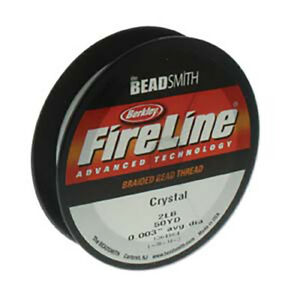 BeadSmith FireLine Thread Braided Wire Crystal Clear Stringing Material 6 sizes