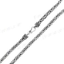 """20"""" 5MM BYZANTINE BALI HANDMADE SOLID 925 STERLING SILVER CHAIN necklace"""