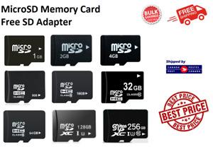 Micro SD MicroSD Memory Card TF 1GB 2GB 4GB 8GB16GB 32GB 64GB 128GB 256GB Lot