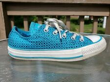 Women's Converse All Star Low Top Shoes Blue Size 5 / 35