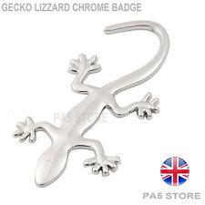 Geko Lizzard Chrome Car Badge Reptile - Universal Boot Body Van Truck Badge - UK