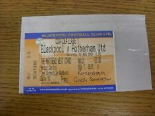 12/08/2006 Ticket: Blackpool v Rotherham United [Media Centre] . Any faults with