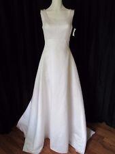 New Michaelangelo white wedding dress with empire waist tank bodice size 6