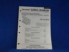 Sharp CD-U10/H Tape Mechanism Service Manual