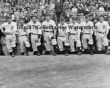 1935 DETROIT TIGERS WORLD SERIES CHAMPIONS PITCHING STAFF 8X10 PHOTO