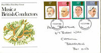 10 SEPTEMBER 1980 FAMOUS CONDUCTORS POST OFFICE FIRST DAY COVER BIRMINGHAM FDI