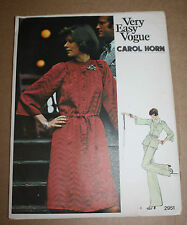 1960s VINTAGE SEWING PATTERN VOGUE 2951 MISSES' DRESS, TUNIC, PANTS CAROL HORN